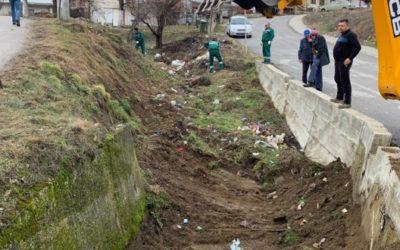 Чистење на еднекот Грозданец и диви депонии во блиската околина