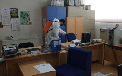 Дезинфекција на административната зграда на Општина Делчево- Општината денеска нема да работи со странки