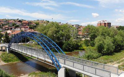 Пешачкиот мост во Делчево го носи името на патронот на градот Гоце Делчев
