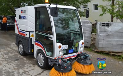 """За прв пат машина за метење улици во ЈКП """"Брегалница"""""""