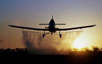 Авионско прскање против комарци во Делчево