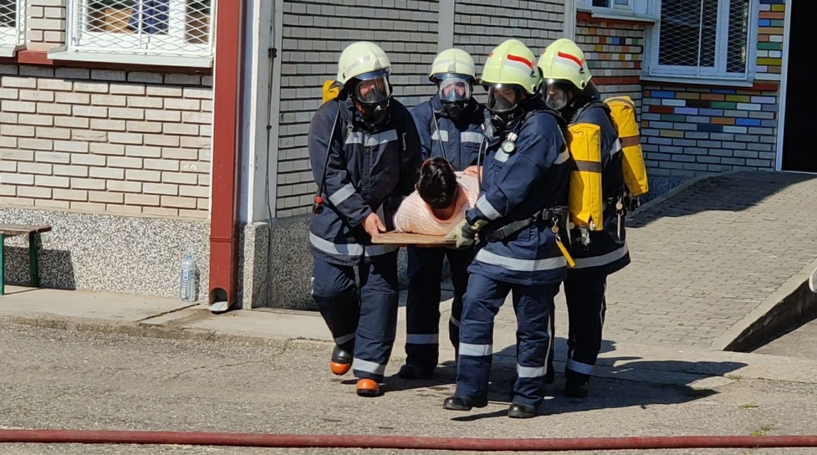 Симулациска вежба за гаснење пожар во услови на ковид 19