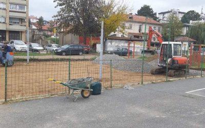 """Се гради терен за одбојка во ООУ """"Ванчо Прке"""""""