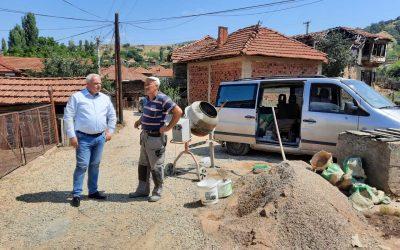 Започна реализацијата на проектот за изградба на општински улици; Се гради улица во с. Вирче